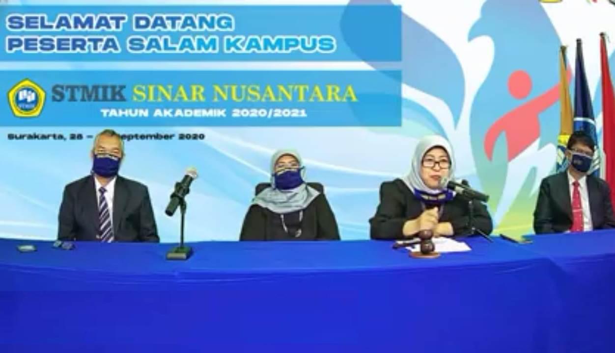 Salam Kampus 2020 STMIK Sinar Nusantara (SiNus) secara Daring Online